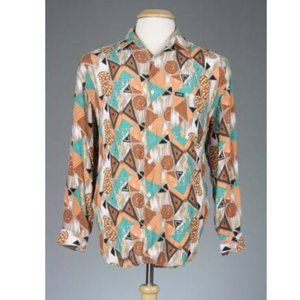 Vintage 80s GUESS Classic Geometric Shirt